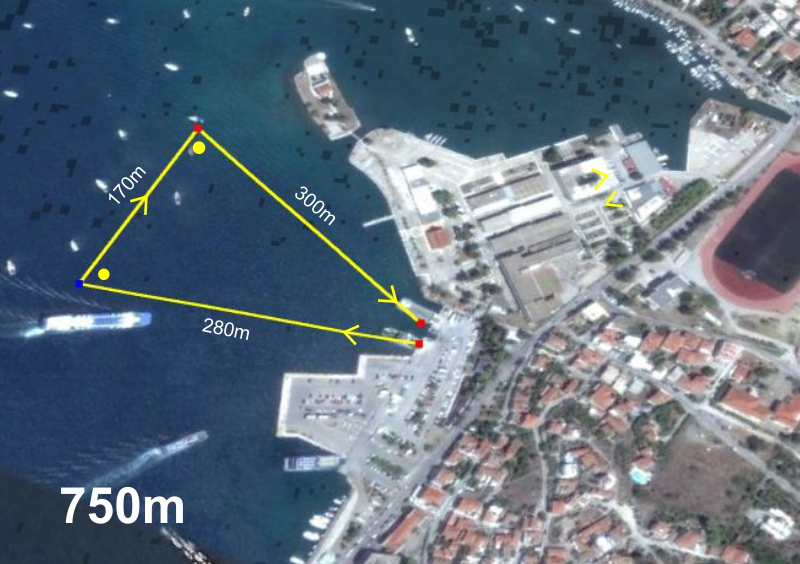 Sprint triathlon swim 750m