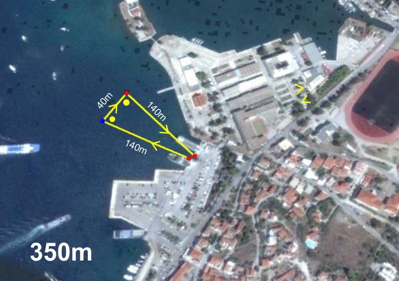 Super sprint triathlon swim 350m