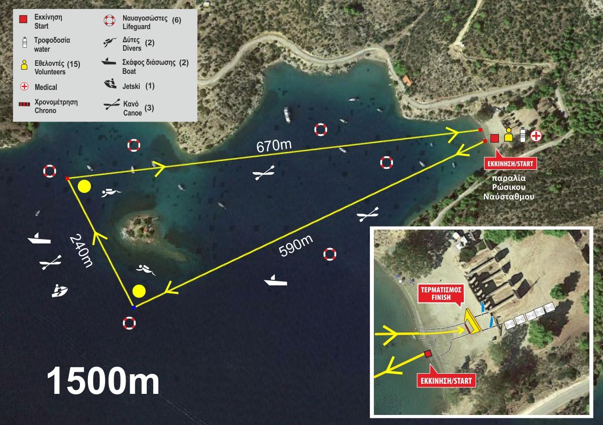 swim-map 1500m