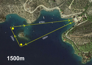 swim 1500m